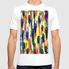 paint-pattern 1 (the chaps) White MEDIUM Mens Fitted Tee