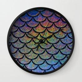 Cobalt Cantaloupe Scales Wall Clock