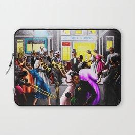 "Rare Archibald Motley's ""Getting Religion"" Chicago City Scene in color by Jeanpaul Ferro Laptop Sleeve"