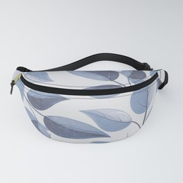 blue leaves Fanny Pack