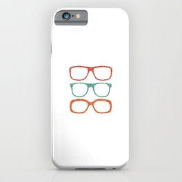 Dot glases iPhone Case