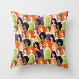 Spring girls Throw Pillow