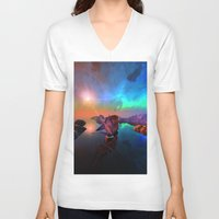 ship V-neck T-shirts featuring Ship  by nicky2342