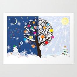 """Seasons"" Happy New Year Art Print"