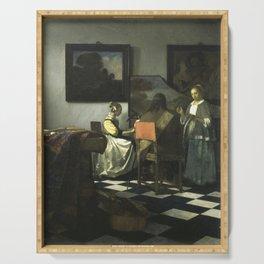 Stolen Art - The Concert by Johannes Vermeer Serving Tray