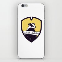 hufflepuff iPhone & iPod Skins featuring Hufflepuff Motherfuckers! by Emma Ehrling