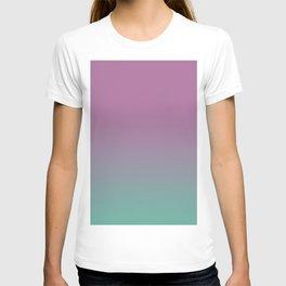 Pink lavender turquoise gradient pattern T-shirt