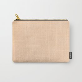 Pale Peach Angelskin Coral Pastel Streaky Hand Painted Watercolor Carry-All Pouch