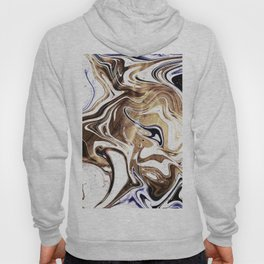 Liquid Bronze and Marble Hoody
