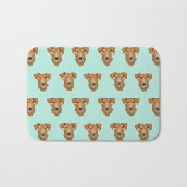 Airedale Glasses airedale dog print airedale pillow dog pattern Bath Mat