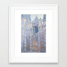 Claude Monet, Rouen Cathedral, West Facade 1894 Framed Art Print
