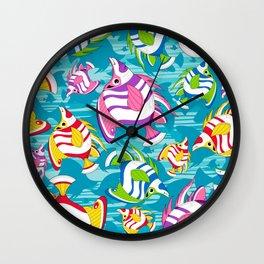 Tropical Fish Pattern Wall Clock