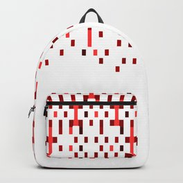 Red and White Matrix Patterned Design Backpack