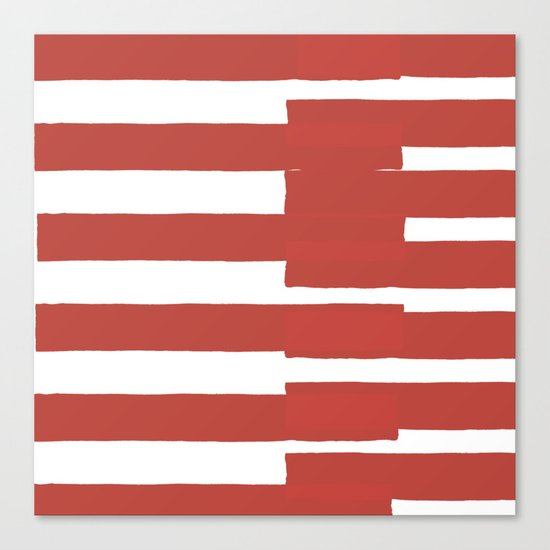 Big Stripes In Red Canvas Print