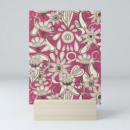 sarilmak pink brown Mini Art Print