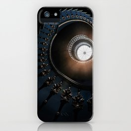 Mysterious spiral staircase iPhone Case
