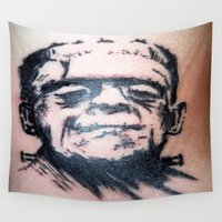 frank Wall Tapestries featuring Frank by Corey Remington