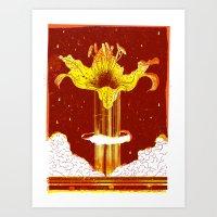 The Lily Bomb Art Print