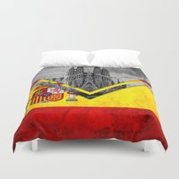 spain Duvet Covers featuring Flags - Spain by Ale Ibanez