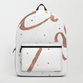 Rose Gold Glam Love Heart Confetti Backpack