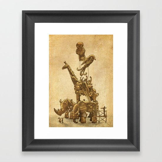 Mechanical Menagerie  Framed Art Print