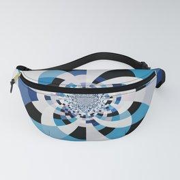 Dual Poles Blue Kaleidoscope Mandala Fanny Pack