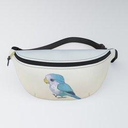 very cute blue quaker parrot Fanny Pack