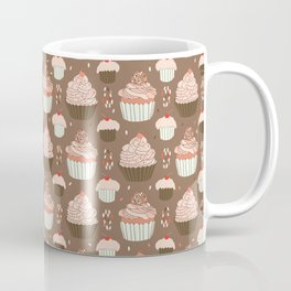 Elegant Cupcakes Food Vector Pattern Seamless Coffee Mug