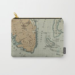 Vintage Map of Charleston SC Harbor (1904) Carry-All Pouch