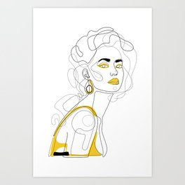 In Lemon Art Print