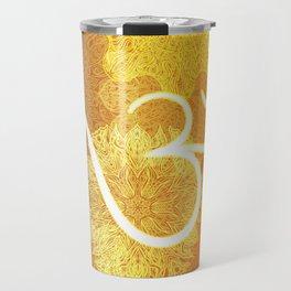 Indian ornament pattern with ohm symbol Travel Mug