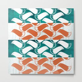 Foxhatched Metal Print