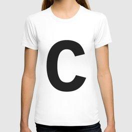 Letter C (Black & White) T-shirt