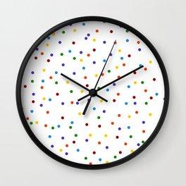 Rainbow Polka Dot Pattern Wall Clock
