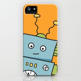 Friendly Blue Robot iPhone Case