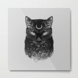 Goth Cat Metal Print