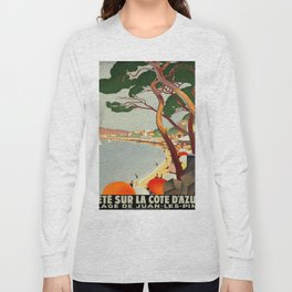 Vintage poster - Cote D'Azur, France Long Sleeve T-shirt
