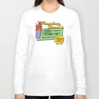 simpsons Long Sleeve T-shirts featuring The Simpsons: Flaming Moe by dutyfreak