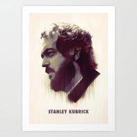 stanley kubrick Art Prints featuring Stanley Kubrick by Mahdi Chowdhury
