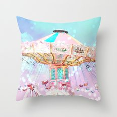 Carnival Ferris Wheel Throw Pillow