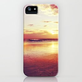 Tropical sunset on a calm beach iPhone Case