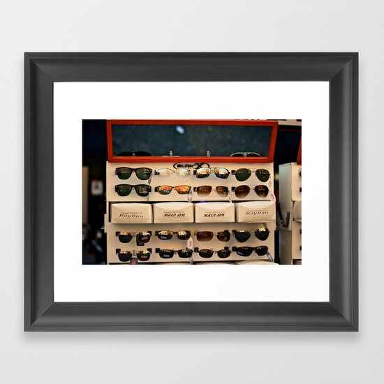 Street Fair Shoppin' Framed Art Print