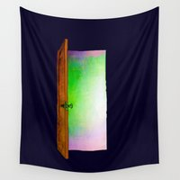 door Wall Tapestries featuring Door by Brontosaurus