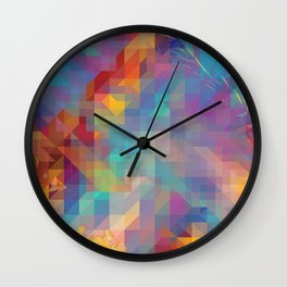Fragmented Microcosms Wall Clock
