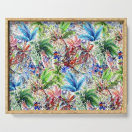 Colorful Tropical Print Serving Tray