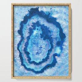 Agate Ocean Dream #1 #gem #decor #art #society6 Serving Tray