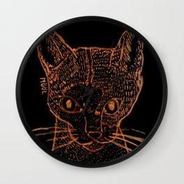 Little Stray Cat Wall Clock
