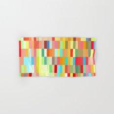 colorful rectangle grid Hand & Bath Towel