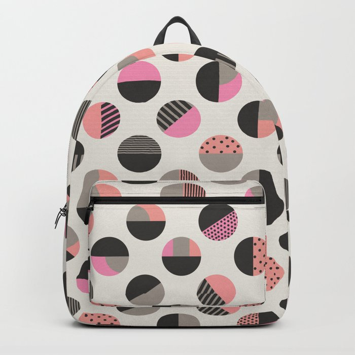 Circles pattern vector illustration Backpack