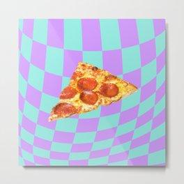 Warped (pizza) Metal Print
